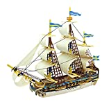 ROBOTIME 3D Wooden Puzzle Ancient Ship DIY Model Set Handcraft Birthday Christmas Gift for Boys and Girls(Gothenburg)
