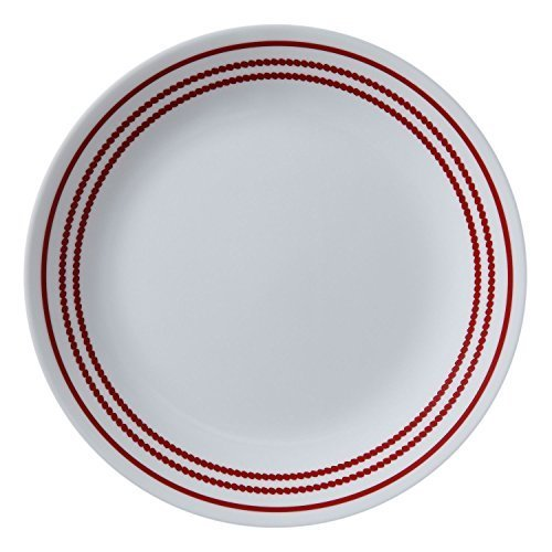 "Corelle Livingware Ruby Red 8.5"" Lunch Plate (Set of 6)"