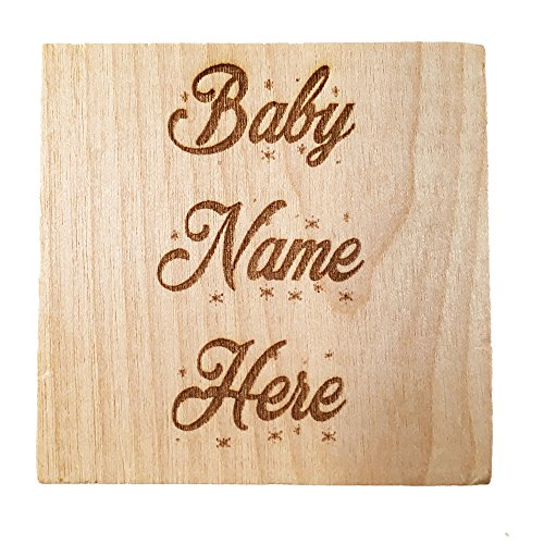 Baby's First Christmas Ornament 2017 Personalized Baby Block ...