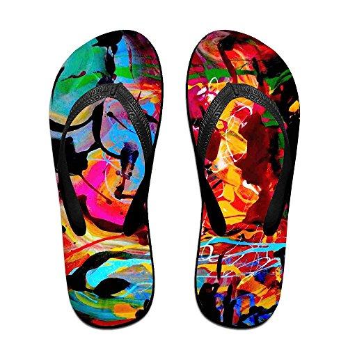 PTJHKET Kids Slippers Women for World Flip Men Abstract Flops 8YHqrI8