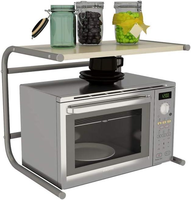 SILVANO Mueble Repisa sobre Microondas 49,5 x 36,5 x 40,5cm Estante de Cocina Estanteria