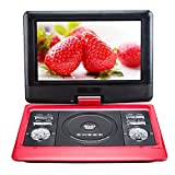 10.1 Inch NS-1129 DVD Player Car DVD Player EVD VCD TFT Screen Portable DVD and recording function from AVI/CD/MP3 to USB/SD, Red