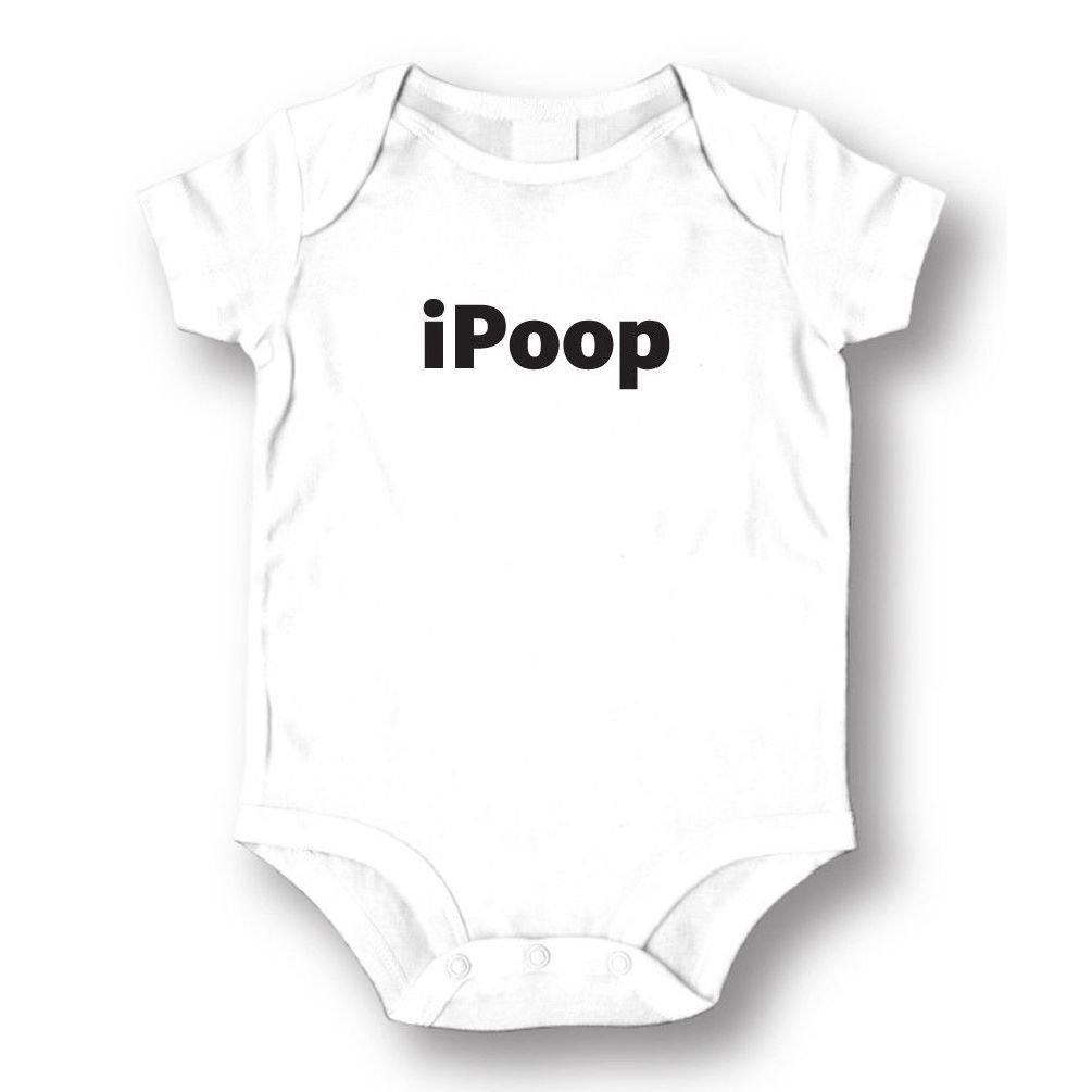 Dustin clothing series IPOOP Baby Boys Girls Toddlers Funny Romper 0-24M