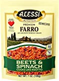 Alessi Premium Farro Beets and Spinach, 7 Ounce (Pack of 6)