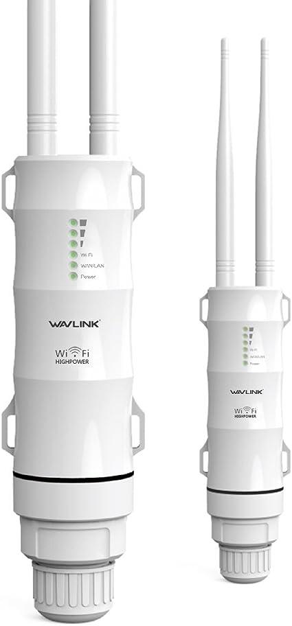 WAVLINK AC600 Inalámbrico WiFi Al Aire Libre Amplificador de señal, Punto de Acceso,Dual Band Repetidor Exterior de WiFi,Modelo de PoE pasivo,2.4GHz ...