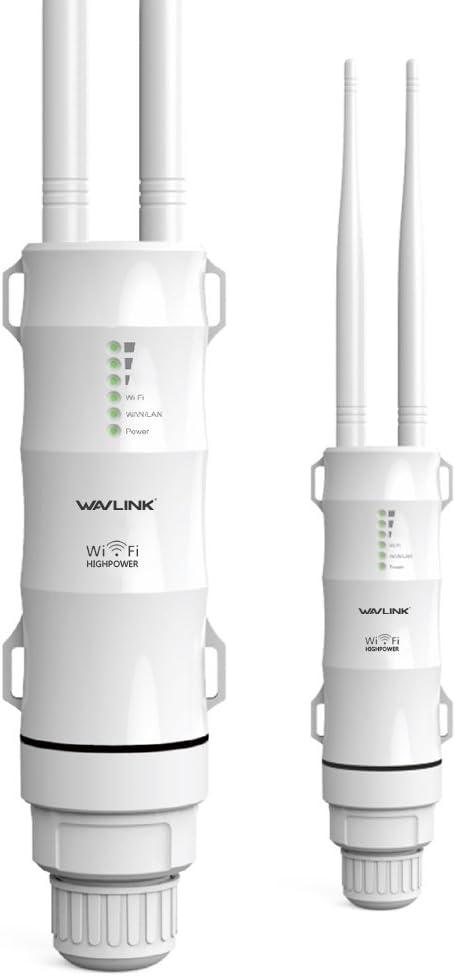WAVLINK AC600 Dual Band Repetidor Exterior de WiFi, Punto de Acceso de Wireless,Repetidor/Ap Mode/Router/WISP, 2.4GHz 150Mbps + 5GHz 433Mbps, Modelo ...