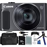 Canon PowerShot SX620 HS Digital Camera (Black) - International Version (No Warranty) 32GB Bundle 14PC Accessory Kit Which Includes Replacement NB-13L Battery, 5 Piece Camera Cleaning Kit, MORE