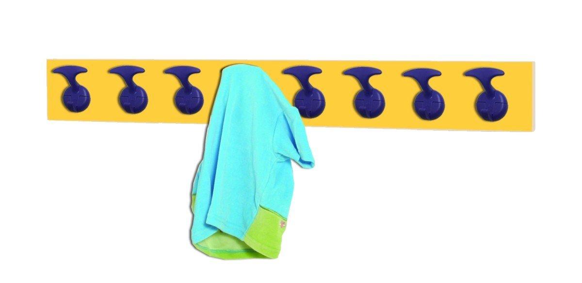 ventas directas de fábrica Mobeduc Perchero Infantil 8 Perchas, Haya, Haya, Haya, Haya y Amarillo, 100x7x12 cm  ventas de salida