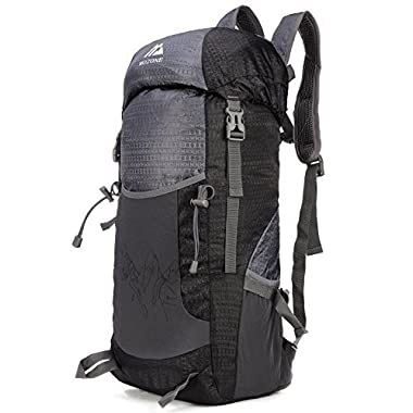 Mozone Large 40l Lightweight Travel Backpack/foldable & Packable Hiking Daypack (Black)