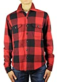 HIROSHI KATO Kato Shirts Jacket 100% Cotton Buffalo Check Red L