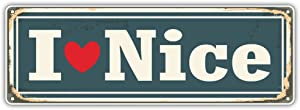 Nice City France Retro Sign Travel Bumper Sticker Vinyl Art Decal for Car Truck Van Window Bike Laptop