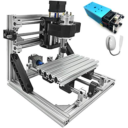 Mophorn Cnc Machine 1610 Grbl Control Cnc Router Kit 3 Axis Pcb Laser Engraver 160X100X40Mm With 2500mW Blue Light Laser Module And Lamp