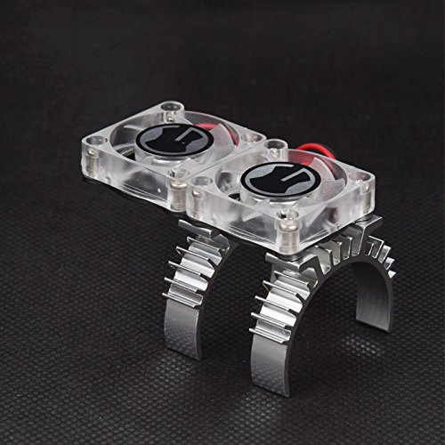 RC Car Motor Heat Sink and Cooling Fan with Thermal Receptor for 1/10 RC Crawler TRAXXAS TRX-4
