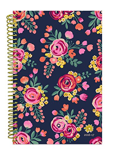 "Bloom Daily Planners 2016-17 Academic Year Daily Planner Passion Goal Organizer Fashion Agenda Weekly Diary Monthly Datebook Calendar August 2016 - July 2017  6"" x 8.25"" - Vintage Floral"