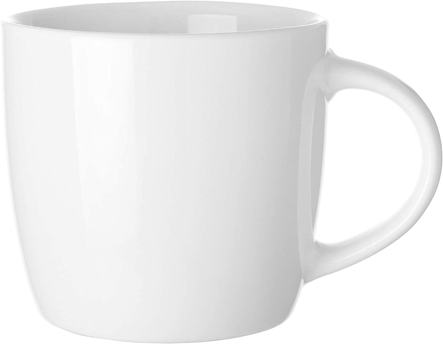 14 OZ Coffee Mug, Harebe Smooth Ceramic Tea Cup, Simple Milk Cup, Suitable for Office and Home, for Men Women - Bright light White