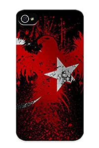 Hot Design Premium Eoddbh-800-pwfwwcn Tpu Case Cover Iphone 4/4s Protection Case (eagles Flags Turkey )