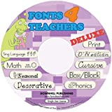 Fonts 4 Teachers Deluxe CD (Manual embedded) | Software optimized for Mac and PC | Complete collection of 57 creative fonts for the perfect teacher | Original software | Easy to install.