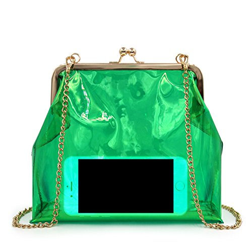 Flada, Borsa a spalla donna verde Green medium