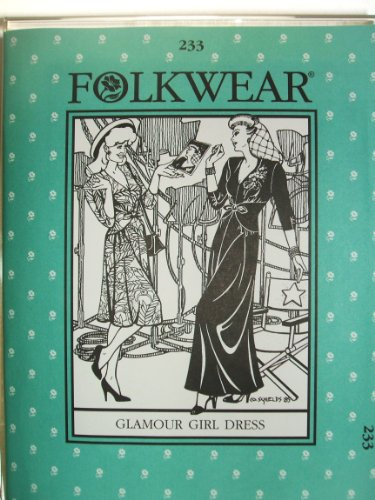 Folkwear #233 Glamour Girl Dress 1930's 1940's Hollywood Sewing Costume (Hollywood 1940 S Costumes)