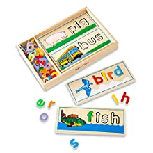 Melissa & Doug See & Spell Learning Toy (Developmental Toys, Wooden Case, Develops Vocabulary and Spelling Skills, 50 + Wooden Pieces, Great Gift for Girls and Boys - Best for 4, 5, and 6 Year Olds)