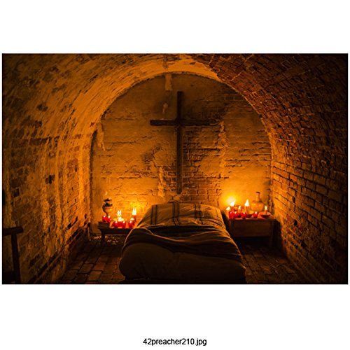 Dominic Cooper 8 Inch x 10 Inch photograph Preacher (TV Series 2016 - ) Candlelit Bed in Archway kn