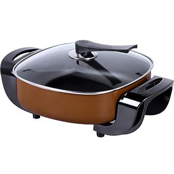 Fondue Hot Pot parrilla eléctrica, estilo KorUPC Hogar Moderno-dos en uno Hot Pot