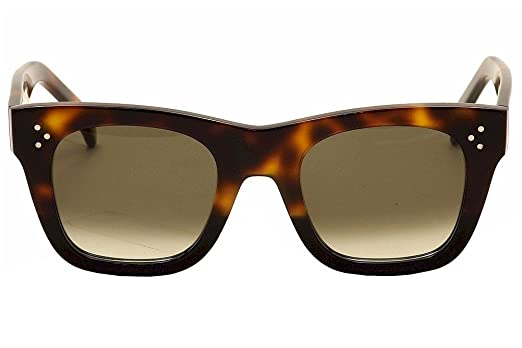 199aec317f3 Celine 41089 S AEA Tortoise Catherine Small Square Sunglasses Lens Category  3 S at Amazon Women s Clothing store