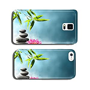 waterlily with stones and bamboo cell phone cover case iPhone5