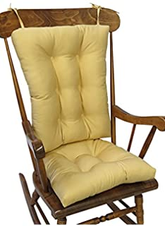 The Gripper Non Slip Twill Rocking Chair Cushions, Cinder Toffee