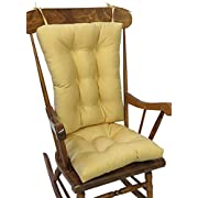 The Gripper Non-Slip Twill Rocking Chair Cushions, Cinder Toffee