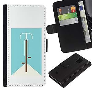 Be Good Phone Accessory // Caso del tirón Billetera de Cuero Titular de la tarjeta Carcasa Funda de Protección para Samsung Galaxy S5 Mini, SM-G800, NOT S5 REGULAR! // bicycle life