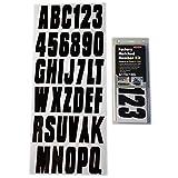 Hardline Products - Kit de matrícula de fábrica con número Negro sólido, Negro sólido