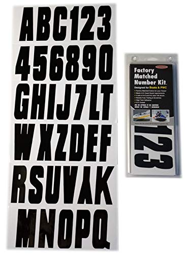 Hardline Products BLK350EC Solid Black HARD LETTER-NUMBER KIT SOLIDBLK
