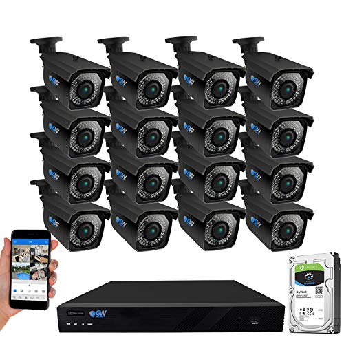 GW Security 16 Channel 4K 8MP Network NVR HD 5MP IP Security Camera System with 16 x 1920P Outdoor 2.8-12 mm Varifocal Zoom PoE Bullet Cameras and Pre-installed 4TB HDD (VDW16CH16C5061IP)