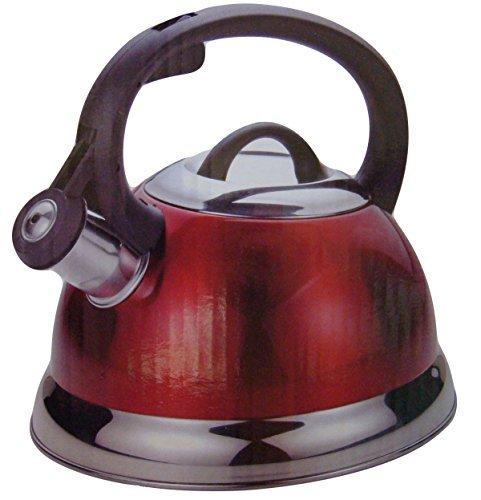 2.5 Qt Whistling Tea Kettle in Metallic - Single Serving Tea Kettle