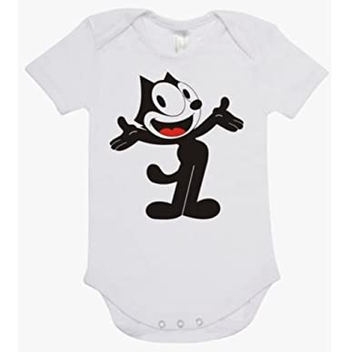 c11402896d52 Amazon.com  Rare New Felix Cat Cartoons Baby Clothes Funny Bodysuit ...