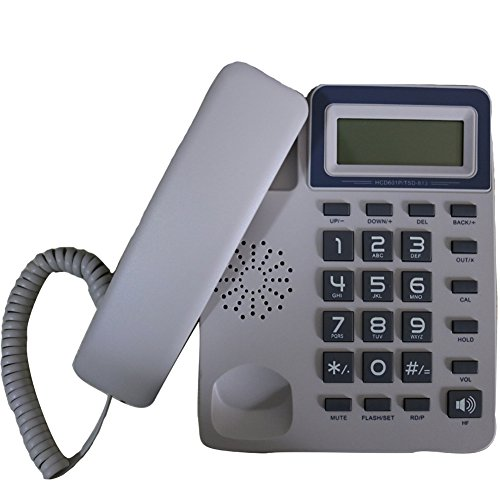 KerLiTar K-P40W Corded Phone with Caller ID Speakerphone Calculator Alarm Home Office Desk Phone Landline(White) (Caller Corded Speakerphone Id)
