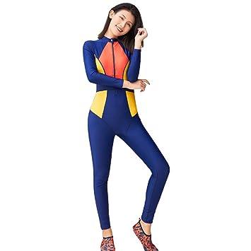 97f83eef56 LXYIUN Vêtements de Protection Solaire monoblocs,Costume de plongée  Combinaison à Manches Longues Adolescente Maillot