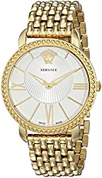Versace Women's VQQ060015 New Krios Gold-Tone Stainless Steel Watch