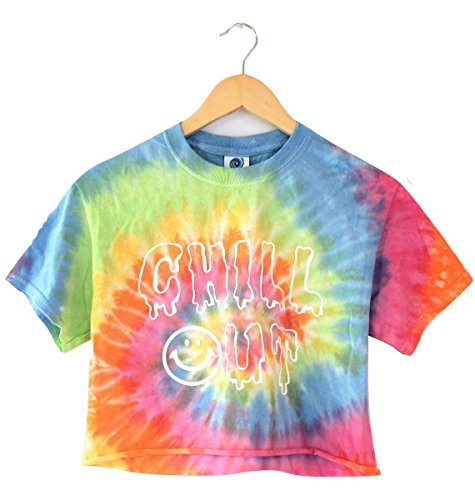 Clothes Colorful - Chill Out Pastel Tie-Dye Graphic Crop Top