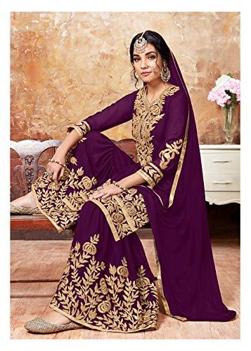 Purple Traditonal Partywear Women Facioun Salwar Designer Kameez Ethnic Indian Da YqzwSvY
