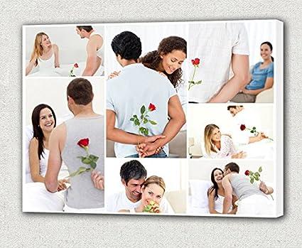 amazon com 20 x 24 photo collage canvas prints custom family