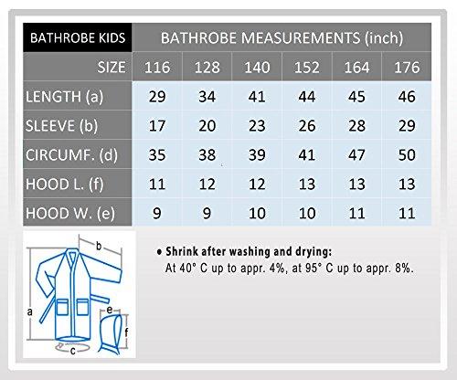 Blu Ragazze Casa Bambine Con Spugna Cappuccio In Piscina A O Per E Cotone 100 Royal Bambini Tessuto Accappatoio 0SapqnAp