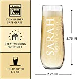The Wedding Party Store Custom Etched Stemless