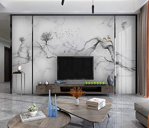フェイクファイン壁紙品質装飾プリントパターン装飾デザイン不織布エンボスピールアブルホーム製品スーパーフレスコストライプ複数ロール使用350Cmx250Cm