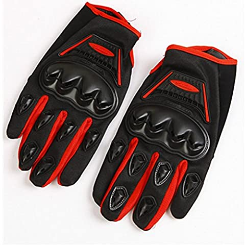 Valpeak Mens Sports Anti-slip Off - road Locomotive Summer Motorcycle Racing Gloves (Red, L) - Mens Off Road Motorcycle