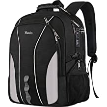 Travel Laptop Backpack, Large Business Backpack with TSA Lock for Men Women, Water Resistant College School Computer Bag w/USB Charging Port, Anti Theft Big Student Bagpacks Fits 17 inch Notebook