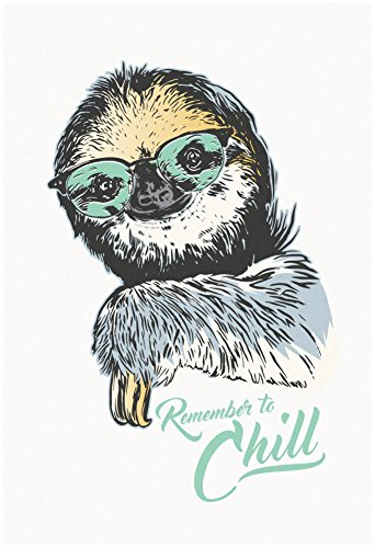 Artedge Remember To Chill Sloth Unframed Poster Print -
