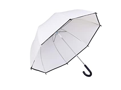 HCJYS JCRNJSB® Paraguas, mango largo transparente estudiante de refuerzo a prueba de viento Fácil