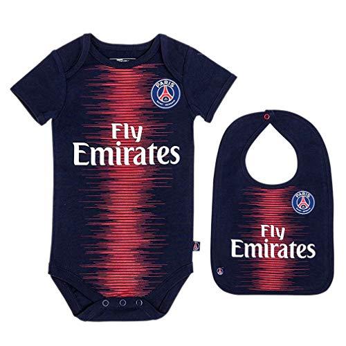 fad0fb6f PSG - Official Paris Saint-Germain Baby Bodysuit & Bib - Blue, Red (6  Months)